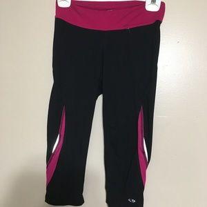 Champion black and pink leggings